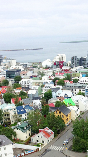 Scene over Reykjavik Lizshealthytable.com