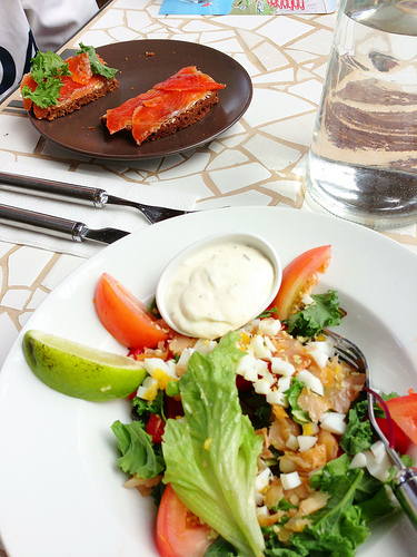 Smoked Trout on Hot Spring Rye Bread, Iceland via Lizshealthytable.com