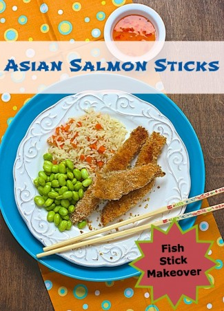 Asian Salmon Sticks via LizsHealthyTable.com