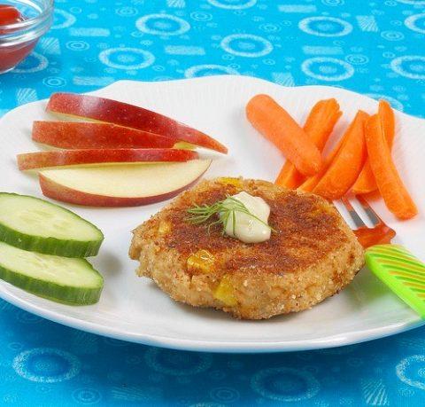 Corny Salmon Cakes via LizsHealthyTable.com #seafood