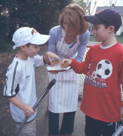 Liz with Simon and Josh